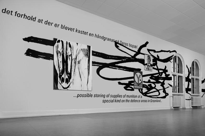 Sådan tog værket sig ud, indtil naturens kræfter kombineret med hærværk og tyveri betød, at de to kunstner måtte foretage ændringer. Foto: Anders Sune Berg