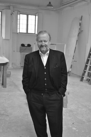 Bjørn Nørgaard i sit atelier på Frederikholms kanal.